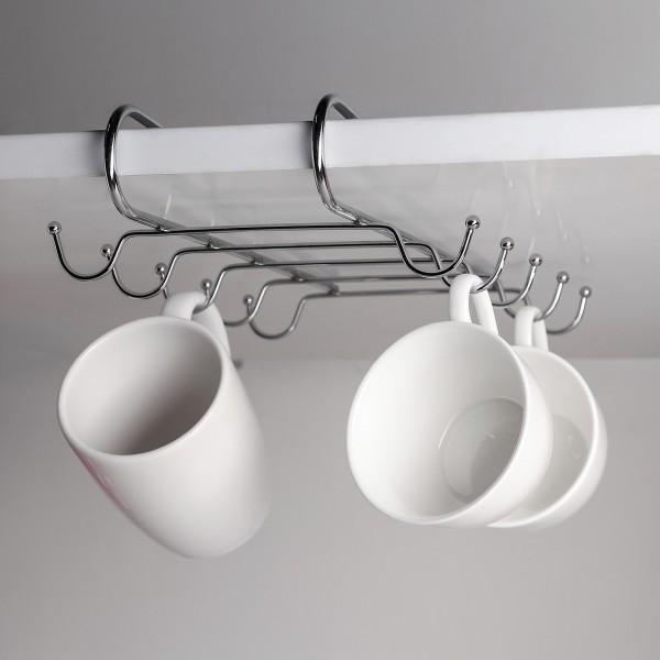 Метална поставка за чаши и прибори органайзер за шкаф