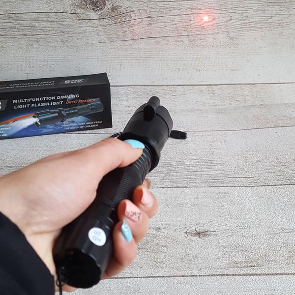Led Фенер с електрошок и лазер Police 900000KV
