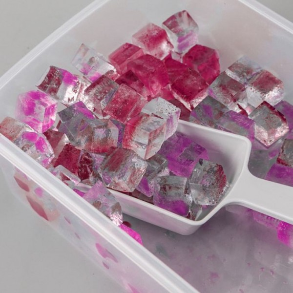 Форма за лед с капак лопатка и контейнер, 33 гнезда