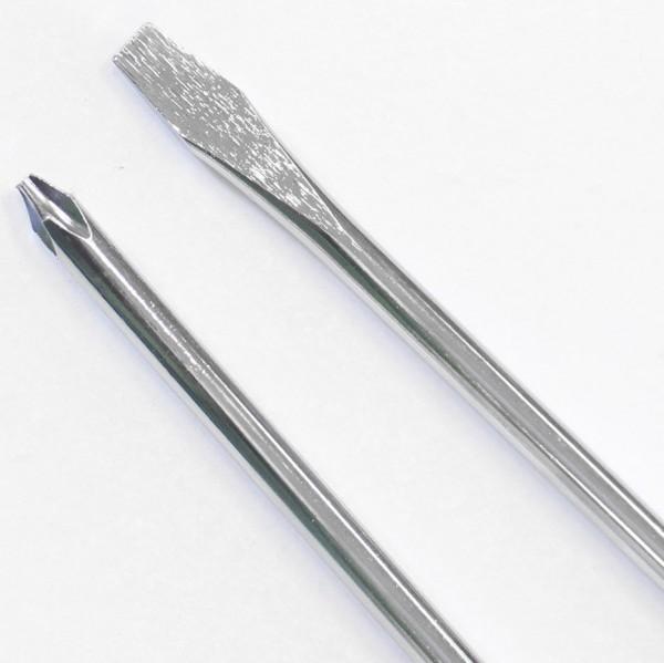 Комплект удължени отвертки - дълга права отвертка дълга кръстата отвертка