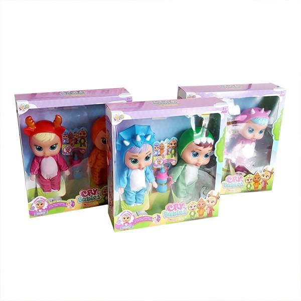 Комплект плачещи кукли със звук и шише за мляко в кутия