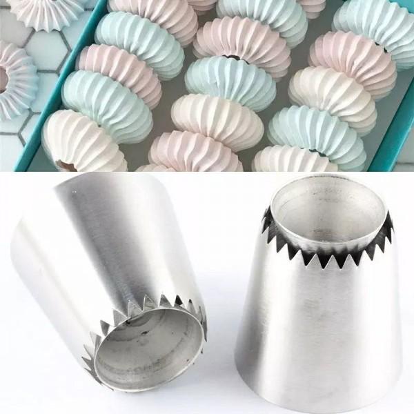 Комплект метални накрайници за целувки и сладки, 2 броя