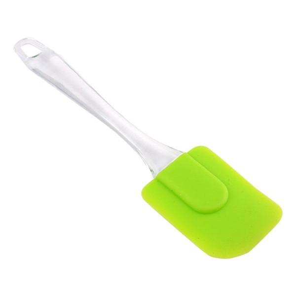 Кухненска силиконова шпатула лопатка с прозрачна дръжка