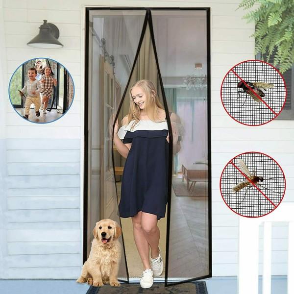 Комарник за врата с магнити мрежа перде завеса против насекоми