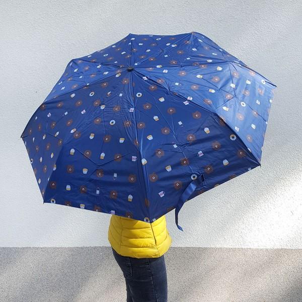 Сгъваем автоматичен чадър на мечета с UV защита