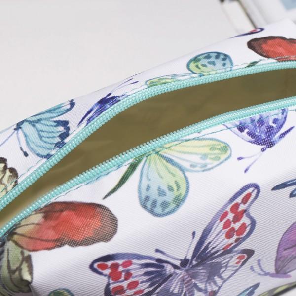 Малка козметична чантичка Шарени пеперуди