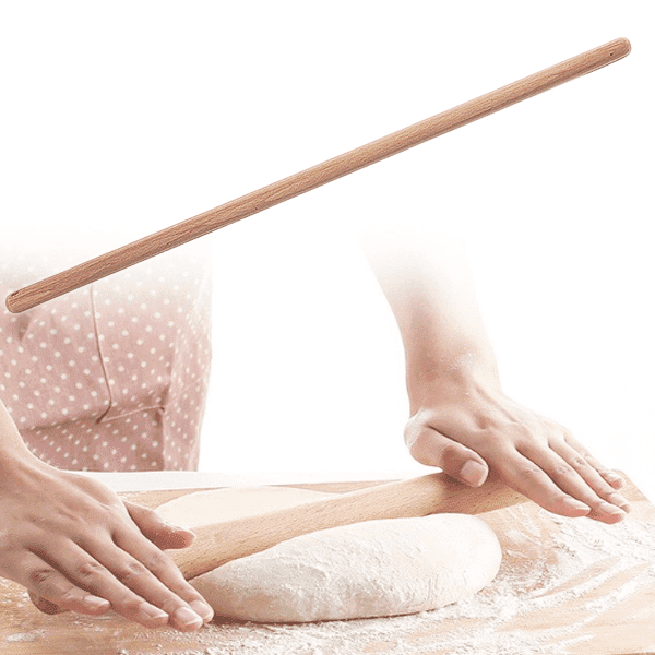 Дървена точилка за разточване на тесто, 69см