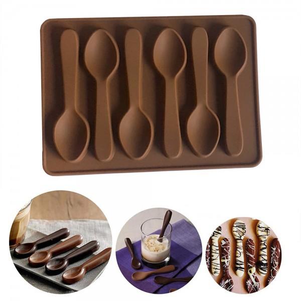 Силиконова форма за шоколадови лъжички