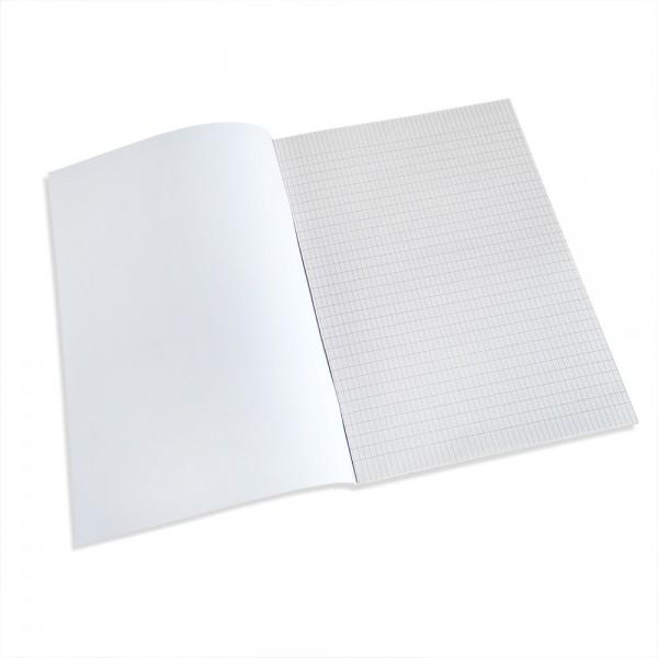Тетрадка А4, карирани листи, вестникарска хартия, 60 листа